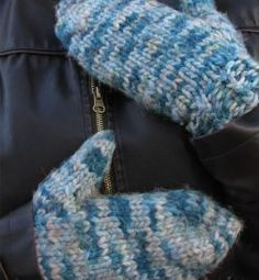 Easy Chunky Mittens for Magic Loop