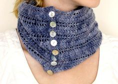 Free Pattern: Stormy Sky Lace Cowl