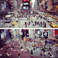 Times Square transformation from car-friendly to people-friendly.