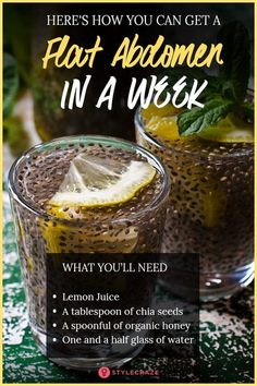 Consume A Mixture Of Chia With Lemon And You Will Get A Flat Abdomen In 1 Week fat drink fat workout drinks and Nutrition plan plans to lose weight recipes tips for beginners Tips for women burning detox drinks Diet Tips diet Healthy Detox, Healthy Drinks, Healthy Tips, Healthy Snacks, Healthy Weight, Best Diet Drinks, Nutrition Drinks, Healthy Juice Recipes, Cheese Nutrition