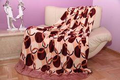Béžovo bordová deka s kruhmi