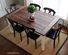 Square Husky Farm Dining Table Leg