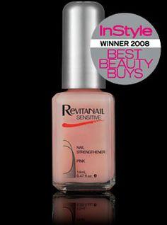 Nail Hardener: Dimethyl Urea based treatment - Revitanail Sensitive Nail Strengthener Pink