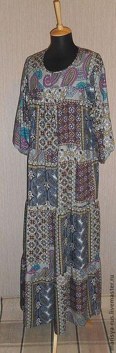 Платье из штапеля.ПРОДАНО. - штапель,платье,платье летнее,платье женское