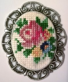 Handmade Cross stitch Necklace by neslyhandmade on Etsy