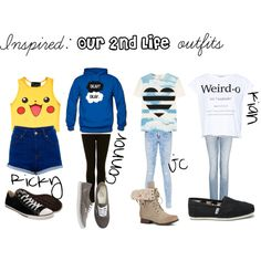 O2L outfits, created by jessiemariealex on Polyvore