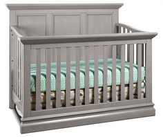 Sweet Dreams. The Cameron convertible panel crib was built with comfort and safety in mind. However, it doesn't sacrifice style with its crown molding detail, elegant curves and soft grey finish. This four-in-one convertible panel crib can be converted to a toddler bed, daybed and, eventually, a Full-sized bed when the time comes, keeping your child dreaming happily throughout the night as he or she grows up. This crib has been tested for harmful materials and approved by organizations li...