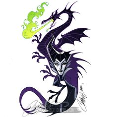 Dragon and Maleficent
