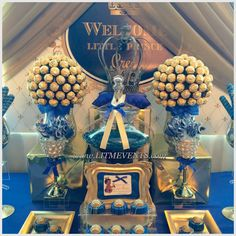 Royal Prince, Royal Prince Baby Shower, Candy Buffet, Sweets Table, Royal Candy Buffet, Little Prince Baby Shower