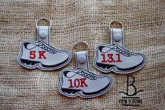 Running Shoe Key Fob/Snap Tab/KeyChain by FlyinBFarmsLLC on Etsy
