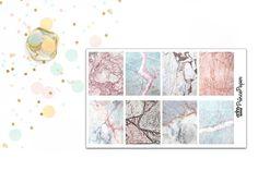 Planner Sticker Marble Full Boxes for your Erin Condren Life Planner, Plum…