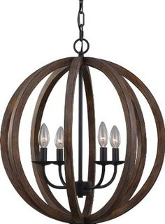 wooden orb chandelier - Google Search