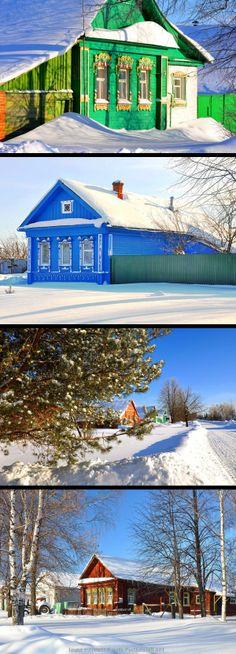Russian village in winter. So beautiful!.