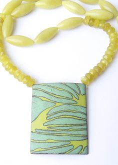 Sgraffito Enameled Necklace - close up | by angelagerhard