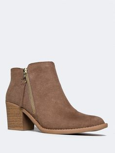 306b09da2ac Bring out your casual side with these western booties that go great with  your boho outfits or everyday wear! - Features a vegan suede upper with a  diagonal ...