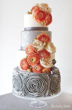 Wedding cake idea; via The Pastry Studio