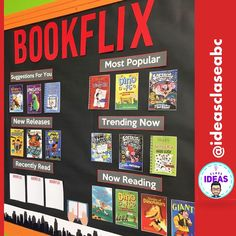 BOOKFLIX-Book report and display/ Ficha lectura-mural/Back to school/ BilingualYou can find Classroom displays . Primary Classroom Displays, Classroom Display Boards, Teaching Displays, School Library Displays, Display Boards For School, Reading Display, Reading Bulletin Boards, Centre De Documentation, School Classroom