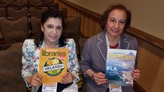 Palestinian librarians Randa Kamal (left) and Diana Sayej-Naser at the 2016 Annual Conference in Orlando.