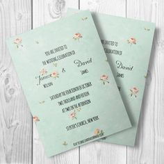 Wedding Invitation Template | Editable Wedding Template | Word Template | Printable Wedding Invitation Template | Instand Download | DIY by DocXshop on Etsy