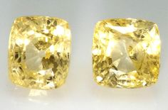 14.59 Carat Vivid Intense Natural Two Yellow Sapphires Ceylonese Unheated  #Unbranded