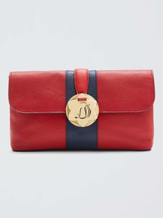harlow leather clutch