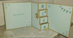 Baby; Stampin Up;  Treppenkarte mit Tutorial auf www.Papierkreationen.net