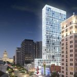 """Developers in Austin, TX, are looking to build a 30-story mixed-use building in the heart of busy downtown without adding any additional parking. The building, called The Avenue, will not contain a parking garage or any other on-site parking, and is being billed as the first """"truly car-free luxury development in downtown Austin."""""""