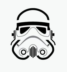Would make a neat print if it were larger. Star Wars Art, Lego Star Wars, Star Trek, Gas Mask Art, Masks Art, Star Wars Drawings, Easy Drawings, Empire Design, Star Wars Tattoo