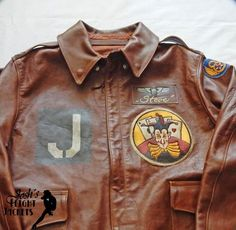 WWII US Army Air Force Nose Art Pin up Hand Painted Flight Jacket A-2 Eastman Leather