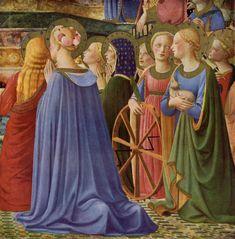 Coronation of the Virgin (Fra Angelico, Louvre) Renaissance Portraits, Renaissance Fashion, Italian Renaissance, Renaissance Art, Fra Angelico, Happy Feast Day, Rome, Edward Burne Jones, 1st Century