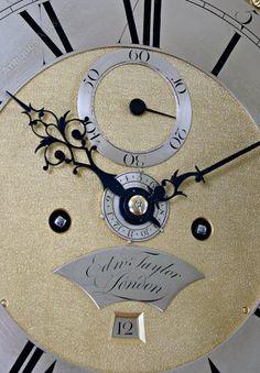 Antique Longcase Clocks, Rare London Longcase Clock By Taylor With Alarm. An elegant London Longcase Clock with rare Alarm feature. Grandmother Clock, Rare London, Clocks, Elegant, Vintage, Decor, Classy, Decoration