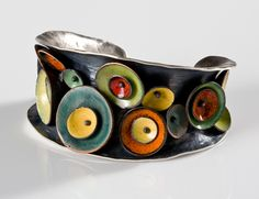 Urban Garden cuff by Brooke Battles i LOVE the colors. sooo bright and exciting!
