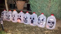 Turn Milk Jugs into Spooky Pumpkin Lights
