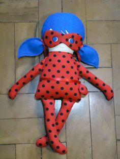 Miraculous/Lady Bug - Fabric Rag Doll