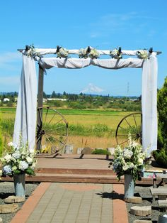 I've been deejaying dances, weddings and special events for 13 years. Wedding Props, Wedding Decorations, Wedding Ideas, Wagon Wheel Light, Tiffany Williams, Sherwood Oregon, Rustic Wedding, Our Wedding, Wagon Wheels