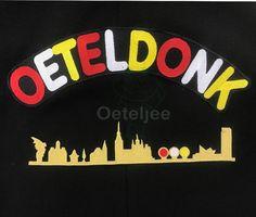 Jungskes Oeteldonk: Embleem skyline Oeteldonk goud kleur