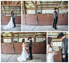 A Country Wedding First Look