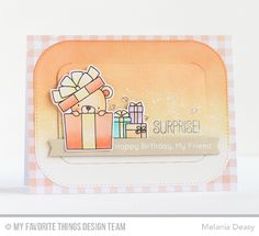 Handmade card from Melania Deasy featuring Blueprints 30 Die-namics #mftstamps