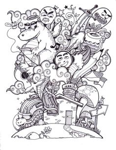 Doodle for Doodlers Anonymous by *kerbyrosanes on deviantART