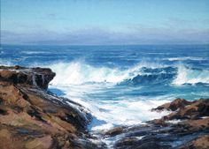 "Matt Smith, ""Autumn Surf"", oil, 16 x 22 inches"