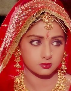 Young Sridevi: I love this photo. She's so pretty and can convey so much emotion through her eyes. She's got a great face.