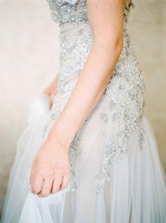 Glamorous beaded Inbal Dror dress: http://www.stylemepretty.com/europe-weddings/switzerland/zurich/2015/09/09/romantic-zurich-wedding-part-i/   Photography: Peaches & Mint - http://peachesandmint.com/