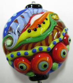 Lampwork bead made by Johan de Lange