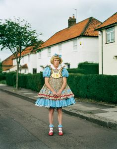 Artist Grayson Perry—here in West London—wore a crinoline dress to accept the 2003 Turner Prize, which he won for his pottery; he and his wife, psychotherapist Philippa Fairclough, have one daughter. Crinoline Dress, Grayson Perry, Christopher Hitchens, Stella Tennant, Tim Walker, First Daughter, West London, Eccentric, Vanity Fair