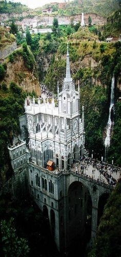 Santuario de las Lajas, Basílica Church, was built in Gothic Revival style inside the Canyon of the Guaitara River located in Colombia, South América. by joshua royal