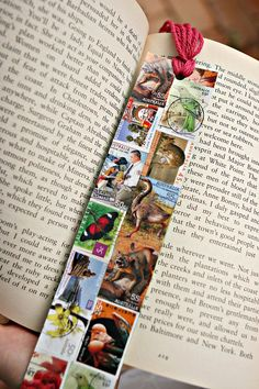 Something to do with all the animal and bird themed stamps I've been collectingStamp Bookmark. Something to do with all the animal and bird themed stamps I've been collecting Book Crafts, Paper Crafts, Art Postal, Diy Bookmarks, Corner Bookmarks, Envelope Art, Envelope Templates, Old Stamps, Postage Stamp Art