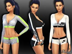 Athletic Outfit by Saliwa at TSR via Sims 4 Updates