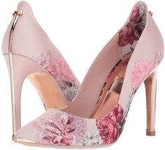 These prettily printed pumps show off striking pointed toes and slender stiletto… - Elegante Schuhe High Heel Pumps, High Heel Boots, Pumps Heels, Stiletto Heels, Knee Boots, Heeled Boots, Women's Flats, Pink High Heels, Pink Heels Outfit