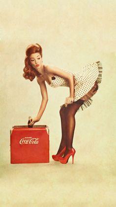 Coca Cola Pin Up Girl iPhone Wallpaper