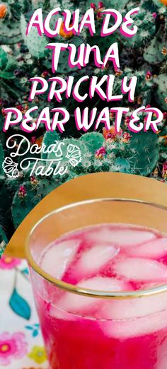 Tis the season!!! My favorite preparation is this prickly pear juice. After prepping the fruit, cut it into slices, place it in the blender, barely cover it with water and blend it for 10 – 20 seconds. Strain the liquid to remove the seeds and serve over ice. The addition of basil or mint makes a good pairing, and if you want to get creative or boozy add it to your margarita.   #mexicangonevegan #pricklypear #notfishwater #aguadetuna #vegan #margaritaupgrade Vegan Mexican Recipes, Delicious Vegan Recipes, Prickly Pear Juice, Hot Tea Recipes, Vegan Shakes, Grapefruit Soda, Peach Lemonade, Ginger Peach, Tequila Drinks